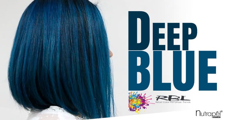 Achieve Deep Blue with RBL by Nutrapél Professional Hair Care