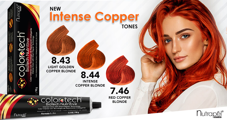 Introducing Nutrapél Professional's new Color Tech Copper's Collection